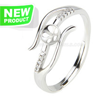 Fashion style 925 sterling silver nice adjustable rings accessor