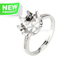 Fashion style 925 sterling silver beautiful adjustable rings acc