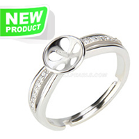 Fashion style 925 sterling silver simple adjustable rings access