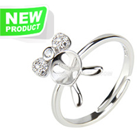 Fashion style 925 sterling silver lovely adjustable rings access