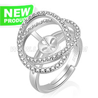Fashion 925 sterling silver elegant adjustable rings accessory