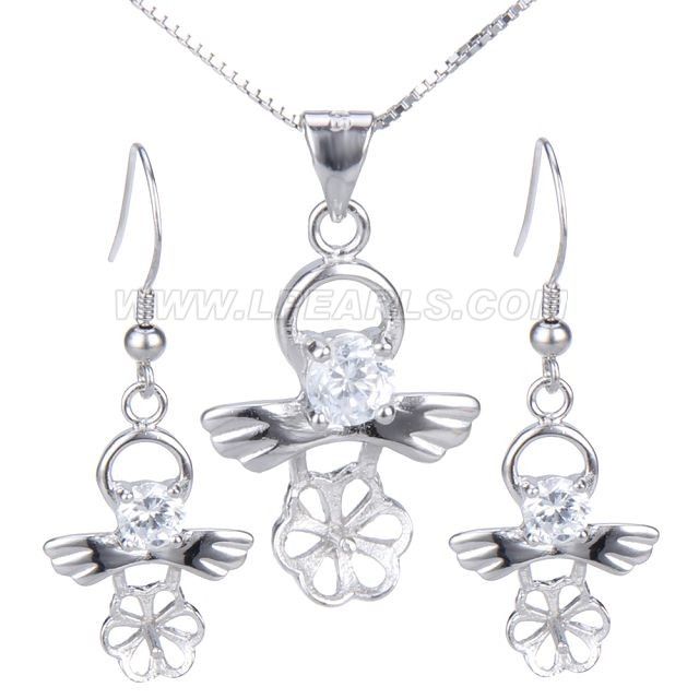 wholesale 925 sterling silver jewelry set fittings