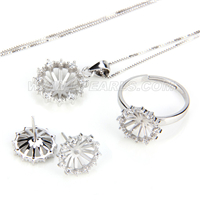wholesale 925 sterling silver necklace earrings set fittings