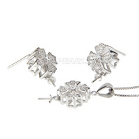 wholesale 925 sterling silver pendent earrings set fittings