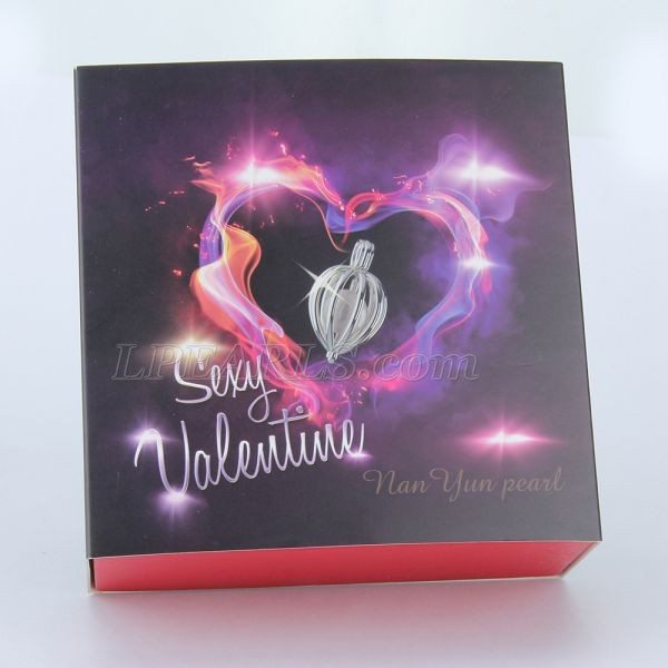 Valentine&#39s Wish Akoya pearl gift set 925 sterling silver nec