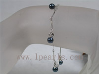 tin cup 5.5-6mm black akoya pearl bracelet wholesale