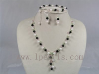 6.5-7mm white Baroque akoya pearl necklace set
