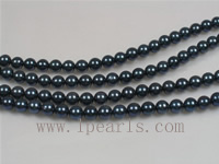 wholesale 16inch 5-5.5mm AA+ grade black Akoya pearl strands