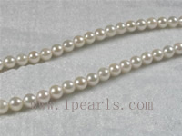 16-inch 6-6.5mm A+ white Akoya pearl strands