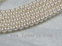 6-6.5mm AAA+ white Akoya pearl strands 16-inch in length