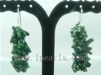 branch bottle green coral sterling dangling earrings on wholesal