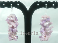 branch purple coral sterling dangling earrings on wholesale