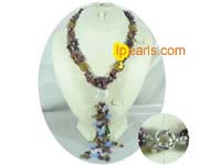 Three strands heart shape jewelry pearl necklace