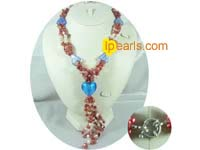 Elengant three strands pearl necklace