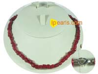 irregular shape red coral necklace on wholesale