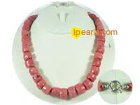 pink coral necklace jewelry