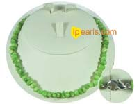 green color irregular shape coral necklace on wholesale