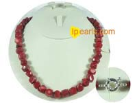 wholesale red irregular shape coral necklace