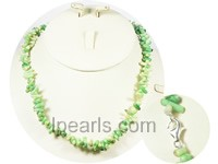 green color branch coral necklace  on wholesal