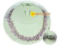 purple color branch coral necklace with some discount on wholesa
