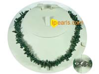 peacock green color branch coral necklace with some discount