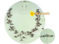 6-7mm coffee color top drilled potato freshwater pearl necklace