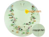 multicolor top drilled potato freshwater pearl necklace on whole