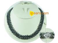 6-7mm blue cultured freshwater jewelry pearl necklace