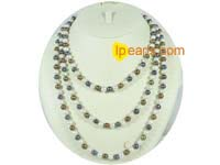 different color 7-8mm potato freshwater pearl necklace