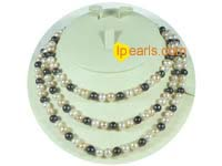 7-8mm multicolor potato freshwater pearl necklace