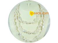 6-7mm top drilled freshwater pearls with coin pearls necklace