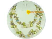 Cute champagne color long necklace with no clasp on wholesale