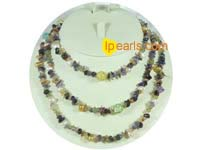 Wholesale side drilled pearls and tourmaline long necklace