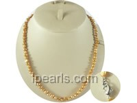 6-7mm cream-colored nugget freshwater pearl necklace
