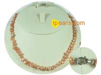 6-7mm wheat color nugget freshwater pearl necklace