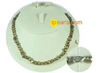 6-7mm bronzy color nugget freshwater pearl necklace