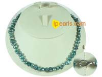 6-7mm glaucous color nugget freshwater pearl necklace