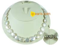 12mm white coin jewelry pearl necklace