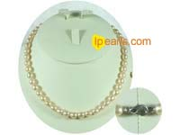 6-7mm natural pink rice freshwater pearl necklace