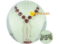 two strands 6-7mm freshwater pearl necklace jewelry