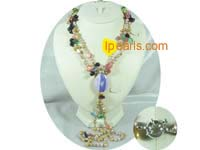 freshwater pearl necklace made of crystal beads and coin pearls