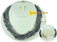 7-8mm smooth on both sides pearl necklaces