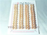 6.5-7mm AAA pink bread-shape freshwater loose pearl