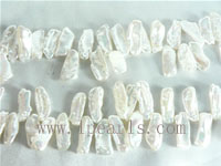 7-20mm natural white freshwater biwa pearl strands from China