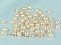 100pcs 6-7mm baby pink rice freshwater loose pearl on wholesale