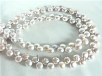 natural purple color 6-7mm freshwater pearl strand from China