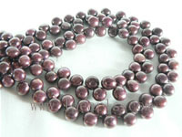 6-7mm brown bread pearl strand on wholesale