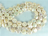 10mm natural pink freshwater coin pearl strands