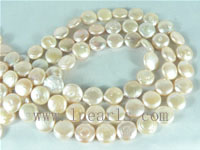 wholesale 10mm natural pink freshwater coin pearl strands
