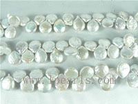 12mm freshwater coin pearl strands in silver color on wholesale